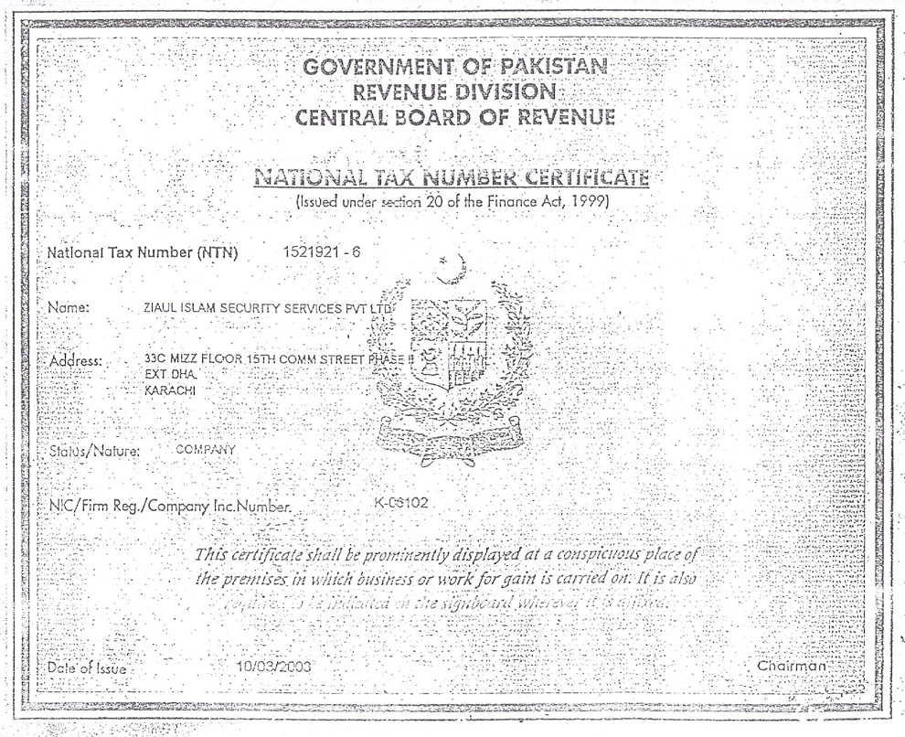 National tax number certificate xflitez Gallery